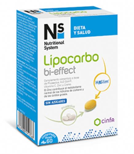 Ns lipocarbo bi-effect (60 comprimidos bicapa)