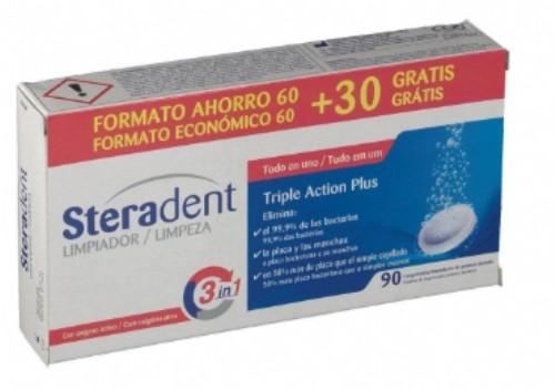 STERADENT TAB LIMPIADORAS PACK 60+30