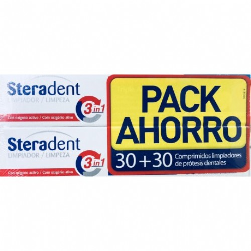 STERADENT TAB LIMPIADORAS PACK 30+30