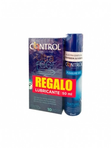 PACK CONTROL ULTRAFEEL + LUBRICANTE NATURE PRESE