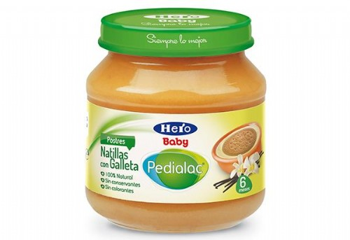 PEDIALAC POSTRE NATILLAS CON GALLETA HERO BABY 1