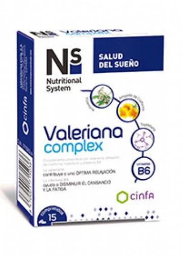 N+S VALERIANA COMPLEX 15 COMP