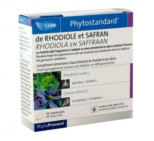 Phytostandard rodiola y azafran (30 comprimidos)