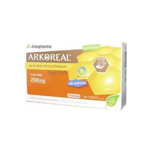 Arkoreal jalea real bio sin azucar (2500 mg 20 ampollas monodosis)
