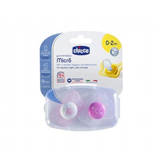 Chupete silicona - chicco physio micro (0-2 m rosa 2 chupetes)