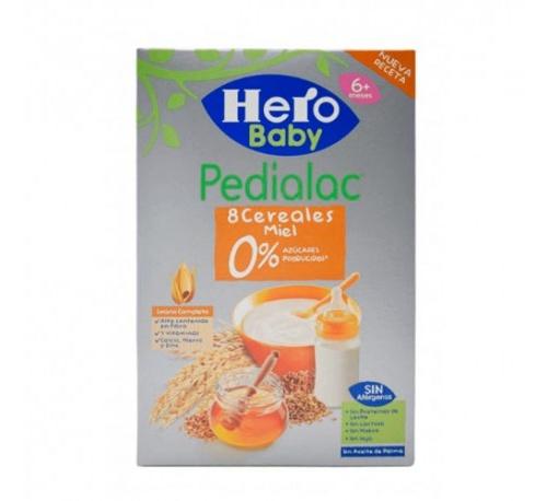 Pedialac papilla 8 cereales y miel - hero baby (1 envase 340 g)