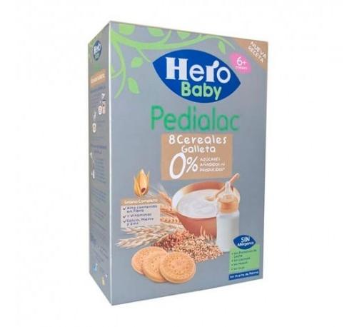 Pedialac papilla 8 cereales con galletas - hero baby (1 envase 340 g)