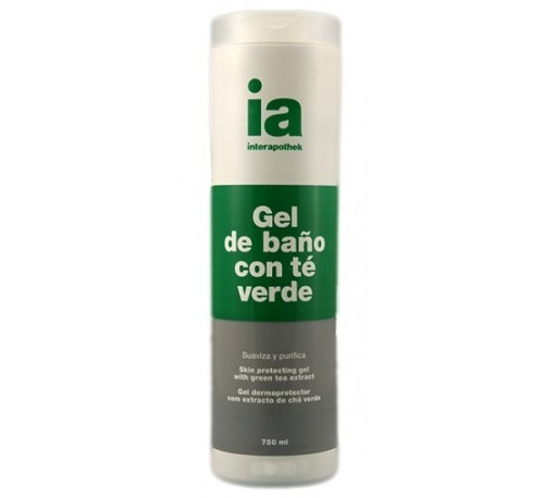 Interapothek gel de baño con exto te verde (750 ml)