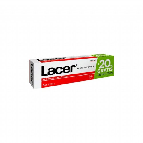 Lacer pasta dental 125 ml.+ 25 ml.