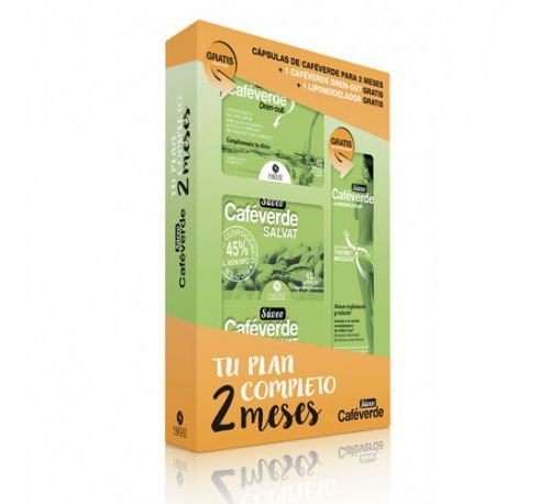 Pack suveo cafeverde salvat 60 caps x2 +lipomod.