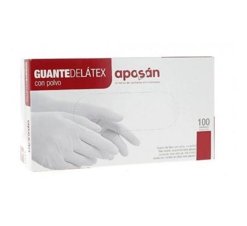 Guantes de latex - aposan (t- med 100 u)