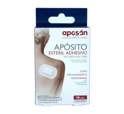 Aposan aposito esteril tejido sin tejer adhesivo (pack 10 apositos 7 x 5 cm)