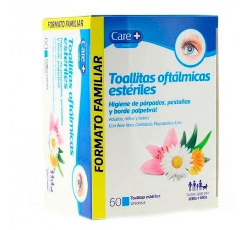 Care+ toallitas oftalmicas esteriles (60  toallitas)