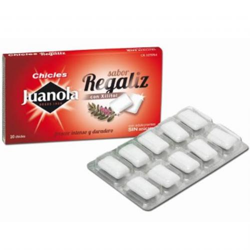 JUANOLA CHICLE REGALIZ SABOR CLASICO 10 G