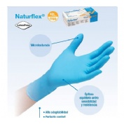 Guantes de nitrilo sin polvo - naturflex (t- gde)