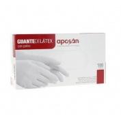 Guantes de latex - aposan (t- gde 100 u)