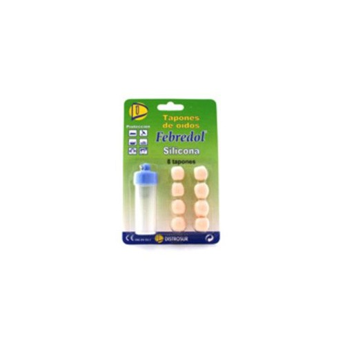 Tapones oidos silicona - febredol (8 u)